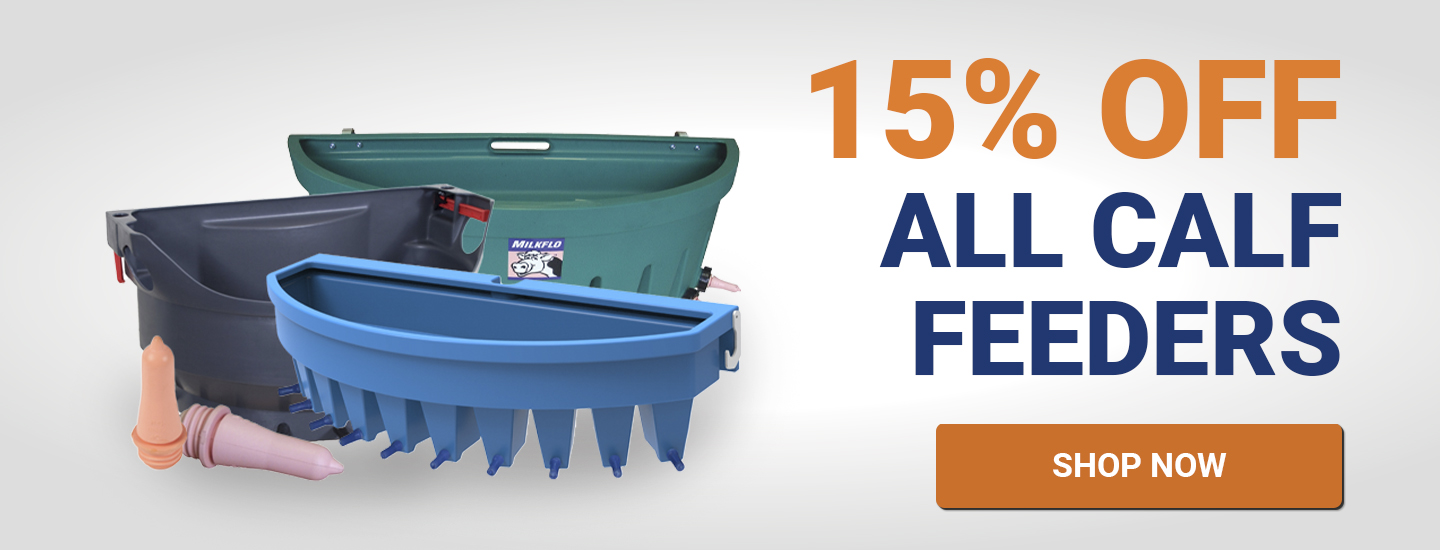 Get 15% off our calf feeders range
