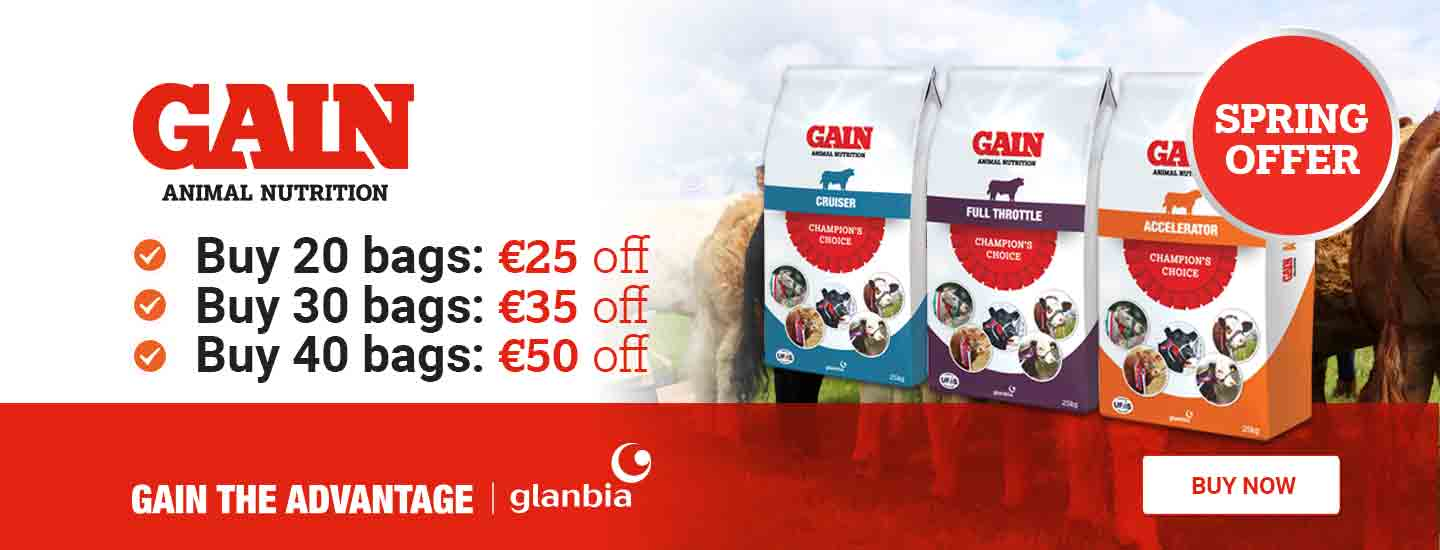 spring savings on GAIN pedigree feed