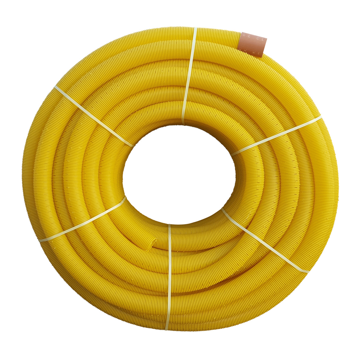 Yellow Coil Land Drainage Pipe 50m X 110mm