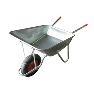 Galvanised Assembled Barrow 120L