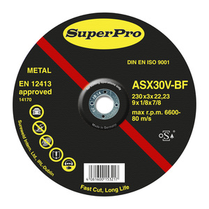 Superpro Professional Elite Metal cutting 9in Disc