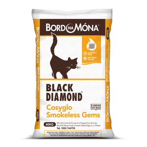 Bord na Móna Black Diamond Cosyglo Gems Coal 40kg