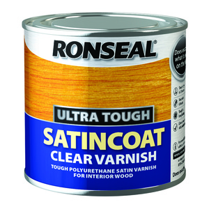Ronseal Ultra Tough Satin coat Clear Varnish 250ml