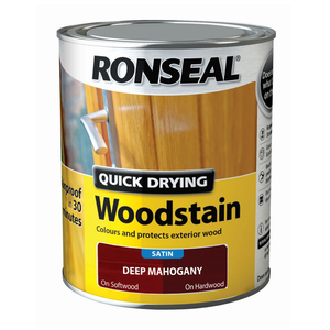 Ronseal Quick Drying Woodstain Satin Deep Mahogany 750ml
