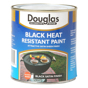 Douglas Black Heat Resistant Paint 250ml