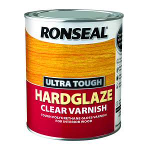 Ronseal Ultra Tough Hardglaze Clear Varnish 750ml