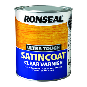Ronseal Ultra Tough Satin coat Clear Varnish 750ml