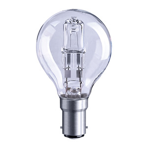 Solus 40W SBC Clear Round Halogen Energy Saver Bulb