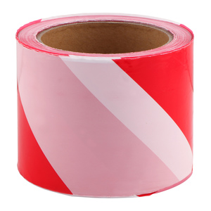 Posamo Barrier Tape Red/White 66m x 60mm