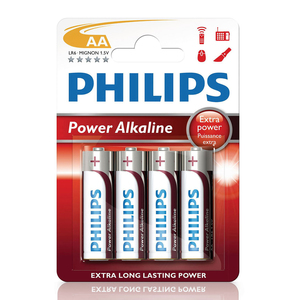 Philips AA Batteries - 4 Pack