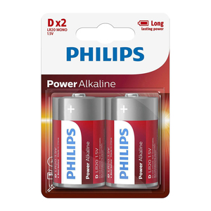 Philips D Batteries - 2 Pack