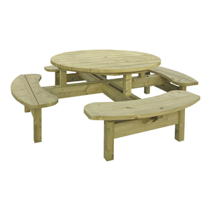 Woodford Round 8 Seater Picnic Table