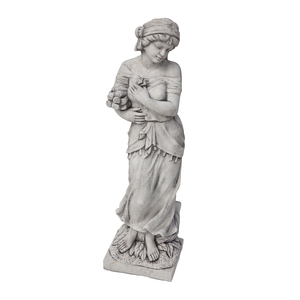 Rose Lady Stone Cast Statue