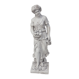 Fruit Lady Stone Cast Statue