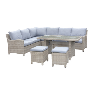 Wentworth Rattan Corner Sofa Dining Set