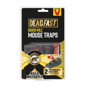 Victor Deadfast Quick Kill Mouse Trap Twin Pack