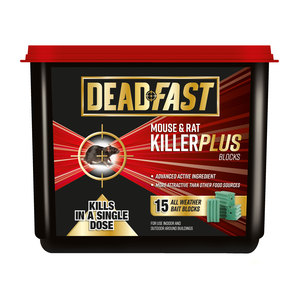 Deadfast Mouse & Rat Killer 15 Block Tub