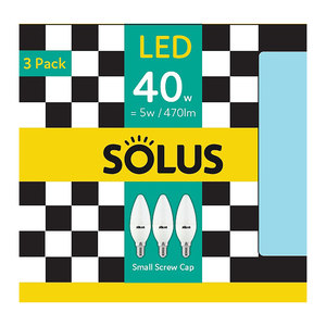 Solus SES Candle 40W Non Dimm 3 Pack