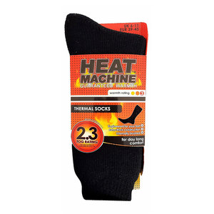 Heat Machine Thermal Socks Black 06-11