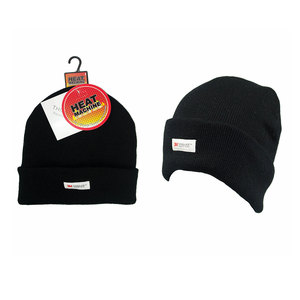 Heat Machine Thinsulate Black Hat