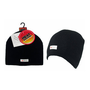 Heat Machine Thinsulate Black Beanie Hat
