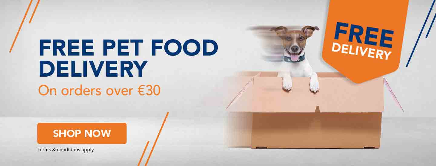 free delivery on all pet food over €30