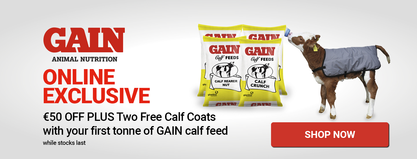 Buy a tonne of calf feed and get €50 off and two free calf coats