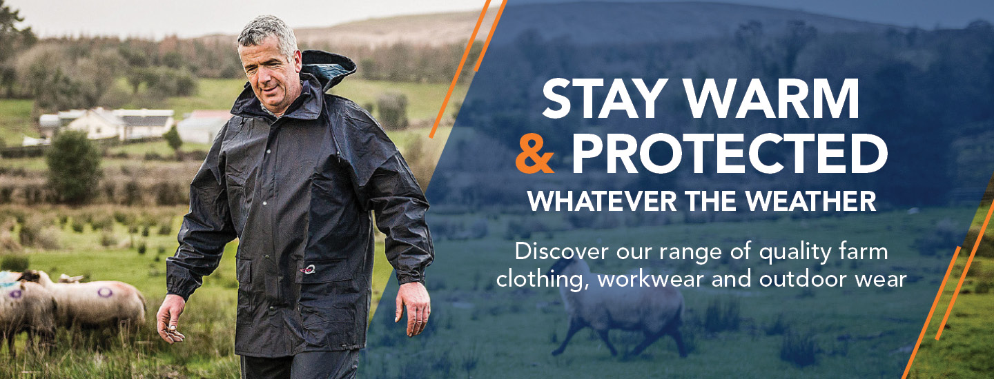 Discover our range of quality farm clothing, workwear and outdoor wear to keep you warm, safe  and dry throughout the farm. Order online or click and reserve for pickup at your nearest store