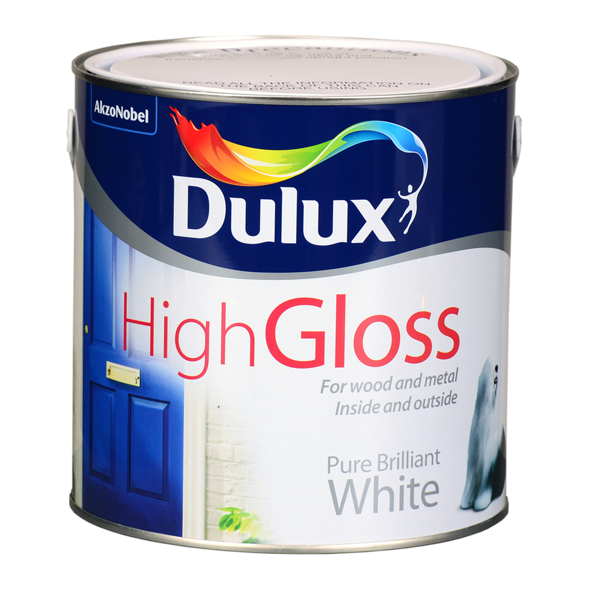 dulux high gloss brilliant white 2 5l. Black Bedroom Furniture Sets. Home Design Ideas