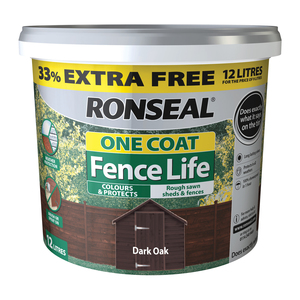 Ronseal One Coat Fence Life 9L + 33%