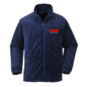 GAIN Animal Nutrition Aran Navy Fleece