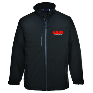 GAIN Black Softshell Jacket