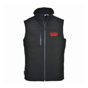 GAIN Equine Nutrition Softshell Black Bodywarmer 3L