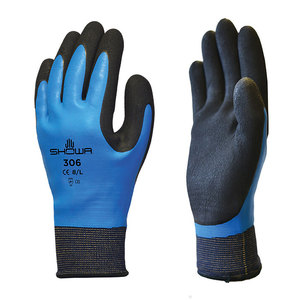 Carded Showa 306 Breathable Gloves Blue/Black